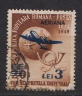 Rumänien; 1952; Michel 1365 O; Flugpost Mit Aufdruck, Supratipar; 3 Lei über 20 Lei; Mit DEFEKT - Usado