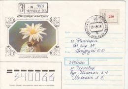 CACTUSS, REGISTERED SPECIAL COVER, 1994, UKRAINE - Cactusses