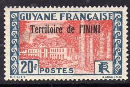 Inini N° 26 / 27 X Timbres De Guyane Surchargé : Les 2 Valeurs Trace De Charnière Sinon TB