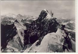 Cervino - Il  Cervino - Sfondo  Monte  Bianco - 1957 - Italy