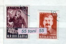 Bulgaria / Bulgarie 1949 Joseph V. Stalin 2v.- Oblitere/used (O) - 1945-59 People's Republic