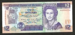 [NC] BELIZE - CENTRAL BANK Of BELIZE - 2 DOLLARS (1990) QUEEN ELIZABETH - Belize