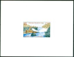 1979 Congo Moukoukoulou Hidroelectric Cascate Waterfalls Power Plant Block** Proof De Luxe -Lu20 - Elettricità
