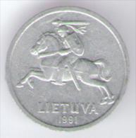 LITUANIA 1 CENTAS 1991 - Lituania