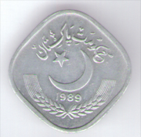 PAKISTAN 5 PAISA 1989 - Pakistan
