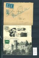 Lettres Ambulant  Niort à Paris Et Retour : 3 Piéces - Postmark Collection (Covers)