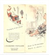 """Dépliant Publicitaire En 3 Volets - ROCHEFORT """" L'Economie Populaire """" Av . De La Gare - Vêtements, Mode,...(b139) - Advertising"""