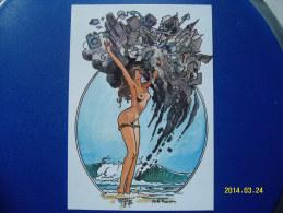 1 CARTOLINA    DI  MILO  MANARA  ( IL PIACERE DI ESSERE.....) 15 - Milo Manara Strips