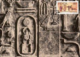 VENDA. N°89 Sur Carte Maximum De 1984. Histoire De L´écriture/Hiéroglyphes égyptiens. - Altri