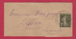BANDE POUR JOURNAL  //  2 CENTIMES VERT //  POUR LESSAC  //  30/1/1935 - Entiers Postaux