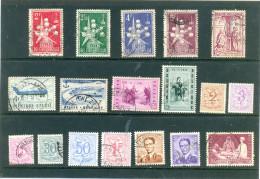 1957 BELGIQUE - 18 Différents - Voir Scan. - Used Stamps