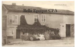 55 - AUBREVILLE - Hôtel De La Gare ++++ L. Marchal, Verdun ++++ RARE / ANIMÉE - France