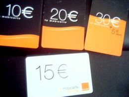 Lot 4 Cartes Recharge ORANGE - Lots - Collections