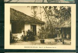 Missions De Ceylan  -  Série II  -  Le Misionnaire Chez Lui    - Dax32 - Sri Lanka (Ceylon)