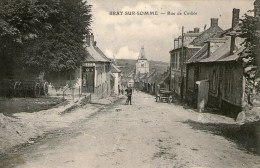 BRAY-sur-SOMME - Rue De Corbie - (Café) - 1915 - - Bray Sur Somme
