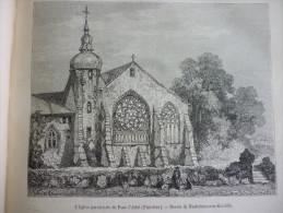 Eglise Paroissiale De Pont L'Abbé , Finistére , Gravure Smeeton Dessin De Niederhaeusern Koechlin 1882 Avec Texte - Documents Historiques