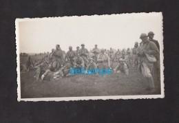 Photo Ancienne - Groupe De Militaires Français Bien équipés - Voir Casque , Uniforme - Guerra, Militares