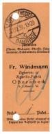 Post - Paketschein , Zigarrenfabrik Windmann In Obernbeck B. Löhne I.W., 1938 , Cigarren , Zigarillo !!! - Löhne