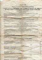 N°37302 -ville De Caen -service Extérieur Des Pompes Funèbres- Tarifs- 17 Mars 1868 - Ohne Zuordnung