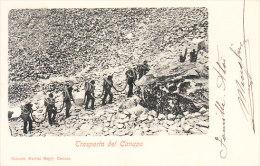 CARRARA - Cave Di Marmo, Trasporto Dei Canapi, Ben Animata, Viagg. 1901 - MAR-24-04 - Carrara