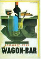 CPM (Carte Postale Moderne) Cassandre - 10115 Au Wagon-Bar - Unclassified