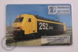 Phone Card Telefonica Spain - Train, Railway Engine/ Electric Locomotive 252 From 1990 - Serie Trenes - Trenes