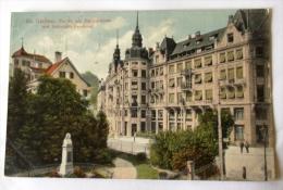 ST GALLEN PARTIE AM BURGGRABEN MIT SCHEITLIN DENKMAL - SG St. Gallen