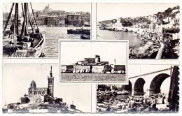 CP, 13, MARSEILLE, Souvenir, Multivues, Voyagé En 1951 - Non Classificati