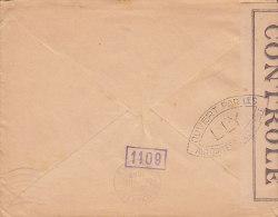 France 1945 Cover To Croix Rouge Belgium Iris CONTROLÉ Label Censure Zensur Censor BRUXELLES Arrival Cancel (2 Scans) - 1939-44 Iris