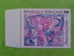 N° 2474 **  Bram Van Velde. Sans La Coul. Jaune. BdF. TTB. Rare - Variétés Et Curiosités