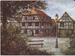 67 - Bas-Rhin - Alsace - SCHILTIGHEIM - Le Cheval Blanc  - Format 10,5  X 14,7 - Peinture De  K. REZVANIAN - Schiltigheim