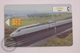 Phone Card Telefonica/ Cabitel Spain - Train, Railway Engine/ Locomotive AVE - Spanish High Speed - Trenes