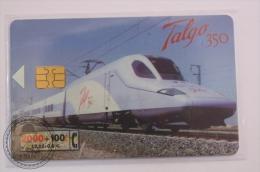 Phone Card Telefonica/ Cabitel Spain - Train, Railway Engine/ Locomotive - Talgo 350  Train - Virgen Del Pilar - Trenes