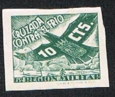Galvez 27 Cruzada Contra El Frío 1937 S/d 10 Cts. Nuevo Sin Char. (notable Doblez) - Beneficiencia (Sellos De)