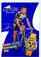 Laurent DUFAUX . Equipe LOTUS 1998 - Cycling