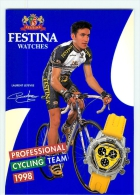 Laurent LEFEVRE . Equipe FESTINA 1998 - Radsport