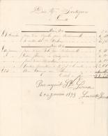 Facture 1872  Et 1873 Lauriette Sainte Livrade, Couturière - Travaux à Façon De Dec. 1872 Et Janv 1873 - Textile & Vestimentaire