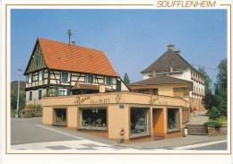 67 - Bas-Rhin - Alsace - SOUFFLENHEIM - Eglise - Poterie Henri WITT - Magasin - Format 10,4  X 15 - Otros Municipios