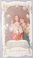 Souvenir De Communion. Yvonne Decamps. Coucelles 1913. Herinnering Aan De Plechtige Communie. - Images Religieuses