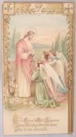 Souvenir De Communion Solennelle. Noémie Capette. Godarville 1925. Herinnering Aan De Plechtige Communie. - Images Religieuses