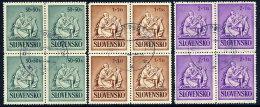 SLOVAKIA 1941 Child Welfare Used Blocks Of 4.  Michel 91-93 - Usados