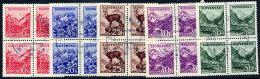 SLOVAKIA 1944 Landscape Definitives  Used Blocks Of 4.  Michel 142-46 - Slovakia
