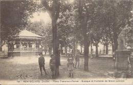 MONTBELIARD - PLACE FRANCISCO FERRER - KIOSQUE ET FONTAINE DE NINON LENCLOS - Montbéliard