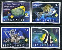 Singapore 1995 Marine Life Set Of 4, MNH - Singapur (1959-...)