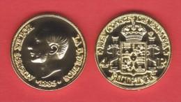 PHILIPPINEN  (Spanish Colony-King Alfonso XII) 4 PESOS  1.885  ORO/GOLD  KM#151  SC/UNC  T-DL-10.832 COPY  Aust. - Philippinen