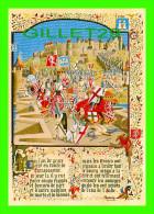 HISTOIRE DU CATHARISME - TROUPES DE SIMON DE MONTFORT ATTAQUENT CARCASSONNE - ORIENT - COL. PALME - - Histoire