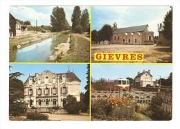 CSM : 41 - Gièvres - Multivues ( 4 ) : Canal Du Berry - Eglise - Château De Jaugy - Gare - Otros Municipios