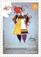 Uruguay 2013 ** Carnaval. Diseño De Vestuario De Juan Mascheroni. Pintura Facial. - Carnavales