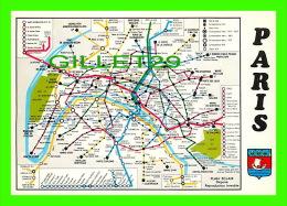 CARTES GÉOGRAPHIQUES - LE PLAN DU METROPOLITAIN D'APRÈS LE PLAN-ECLAIR DE A. LECONTE - - Cartes Géographiques
