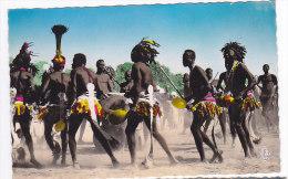 CPSM  TCHAD   r�gion de Daba  danse apr�s la r�colte du coton